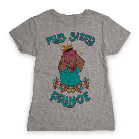 Plus Sized Prince Womens T-Shirt