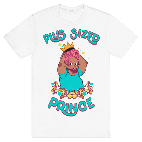Plus Sized Prince Mens T-Shirt