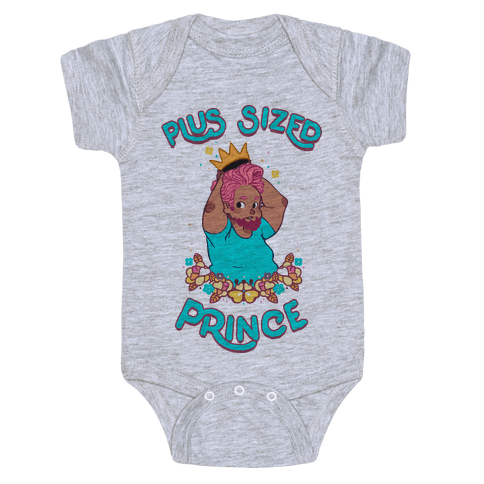 Plus Sized Prince Baby Onesy