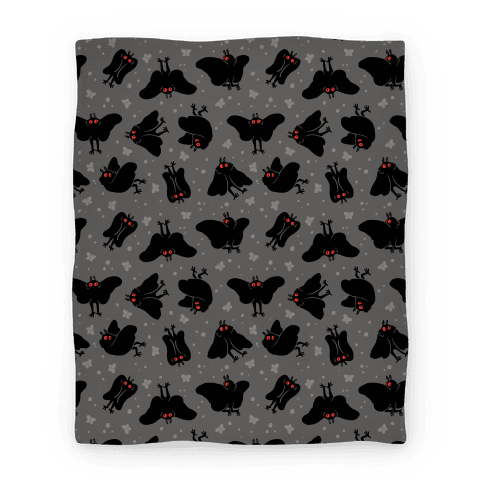 Cute Mothman Pattern Blanket