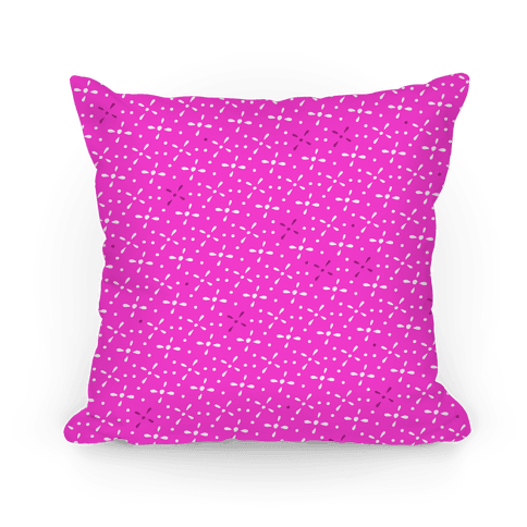 Pink Abstract Floral Pattern Pillow