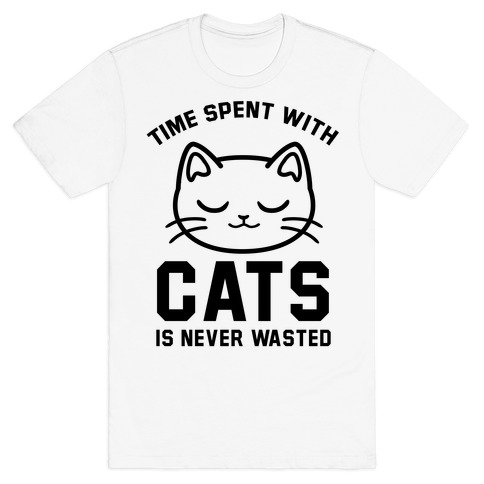 Time Spent With Cats Mens T-Shirt