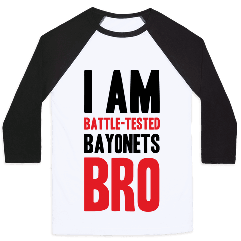 Battle Tested Bro Baseball Tee