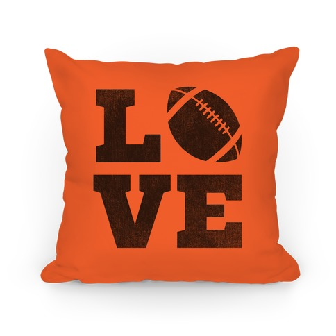 Love Football Pillow Pillow