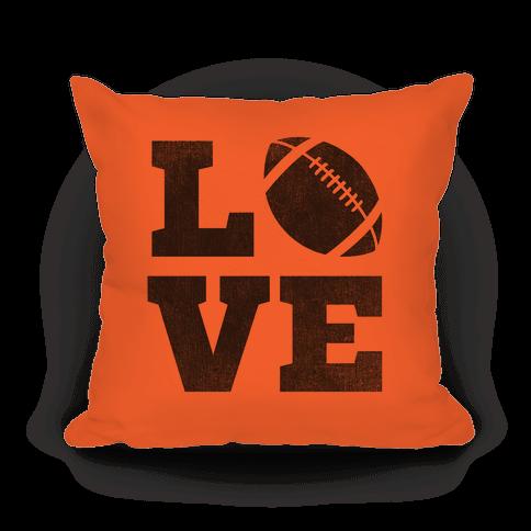 Love Football Pillow