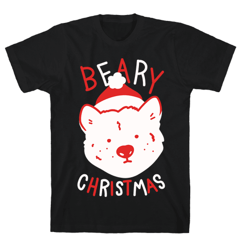 Beary Christmas Mens T-Shirt