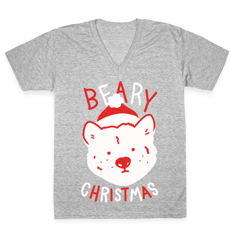 Beary Christmas V-Neck Tee Shirt