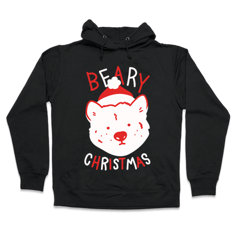 Beary Christmas Hooded Sweatshirt