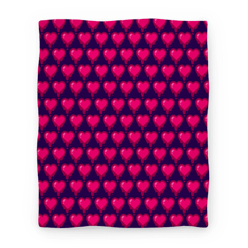 Bleeding Heart Blanket (Purple) Blanket