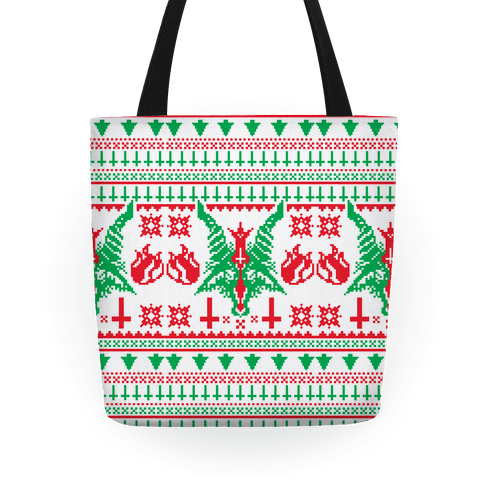 Baphomet Christmas Pattern  Tote