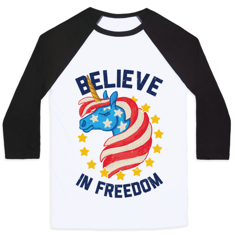 Believe In Freedom Baseball Tee