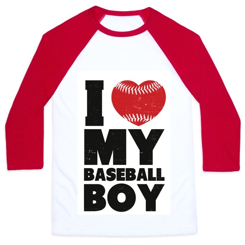 I Love My Baseball Boy Baseball Tee