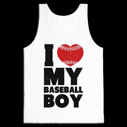 I Love My Baseball Boy Tank Top