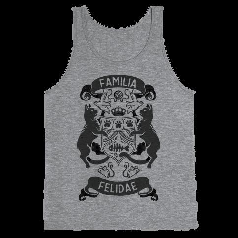 Cat Family Crest: Familia Felidae Tank Top