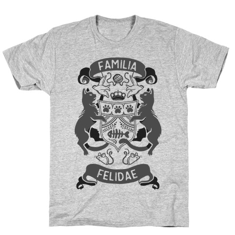 Cat Family Crest: Familia Felidae T-Shirt