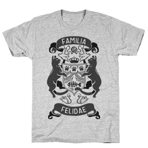 Cat Family Crest: Familia Felidae Mens T-Shirt