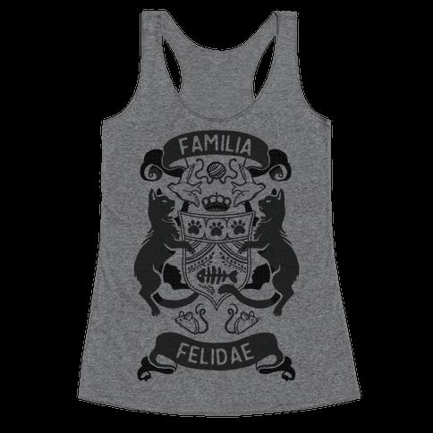 Cat Family Crest: Familia Felidae Racerback Tank Top