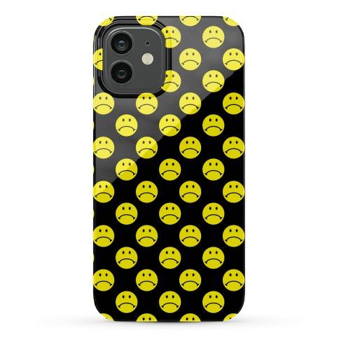 Sad Smiley Face Pattern Phone Case