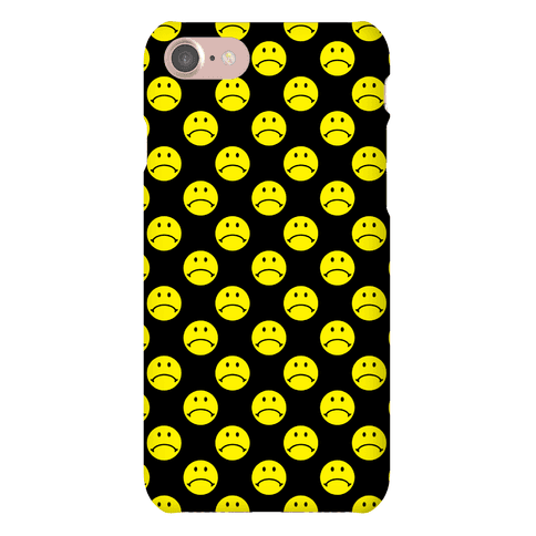 Sad Smiley Face Pattern Phone Case