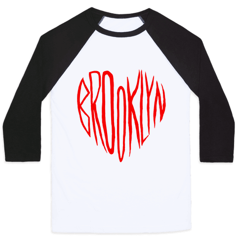 I LOVE BROOKLYN Baseball Tee