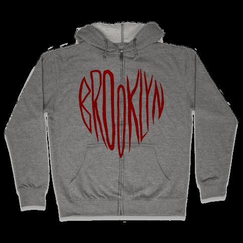 I LOVE BROOKLYN Zip Hoodie