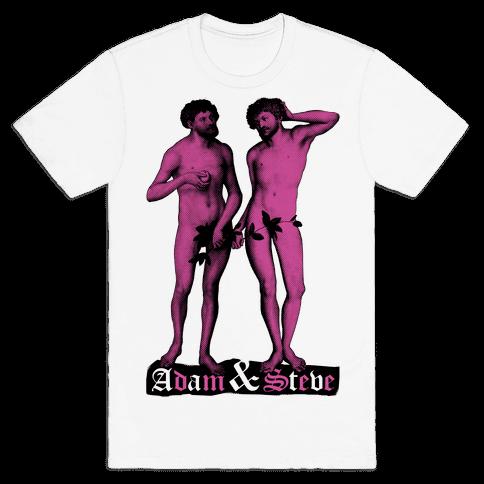 Adam and Steve Mens T-Shirt