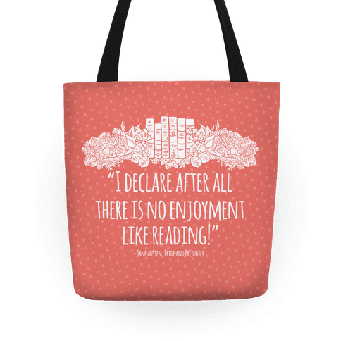 Pride and Prejudice Book Quote Tote