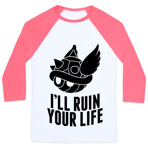 Blue Shell Will Ruin Your Life Baseball Tee