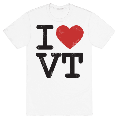 I Love Vermont Mens T-Shirt