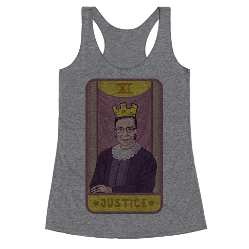 Ruth Bader Ginsburg Justice Tarot Racerback Tank Top