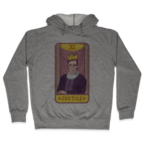 Ruth Bader Ginsburg Justice Tarot Hooded Sweatshirt