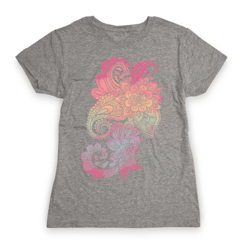 Rainbow Lotus Henna Inspiration Womens T-Shirt
