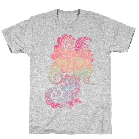 Rainbow Lotus Henna Inspiration Mens/Unisex T-Shirt