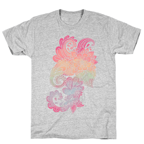 Rainbow Lotus Henna Inspiration Mens T-Shirt