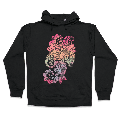 Rainbow Lotus Henna Inspiration Hooded Sweatshirt