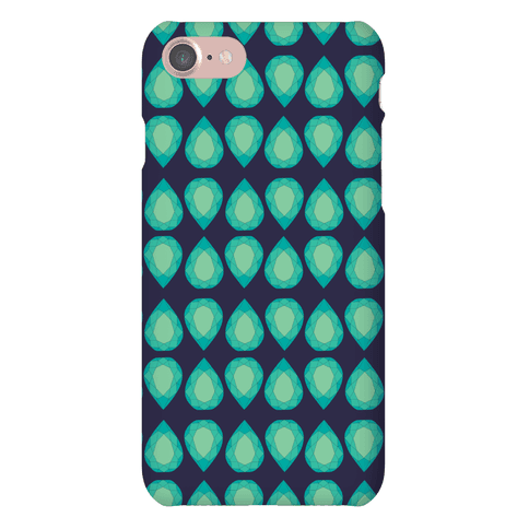 Teardrop Gem Pattern Phone Case