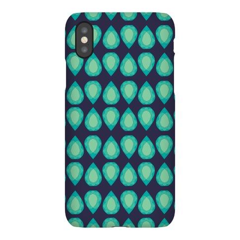 Teardrop Gem Pattern Phone Case
