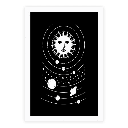Solar System Orbit Poster