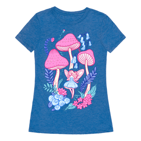 Pastel fairy garden t shirt lookhuman for Garden t shirt designs