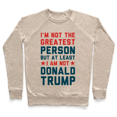 I'm Not The Greatest Person But At Least I'm Not Donald Trump Pullover