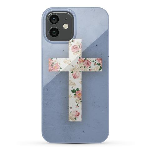 Floral Cross Phone Case