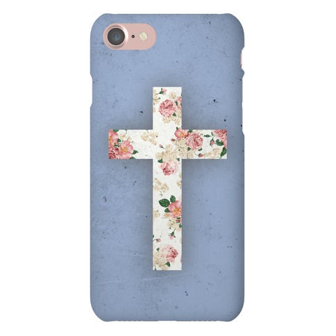 Floral Cross Phone Case