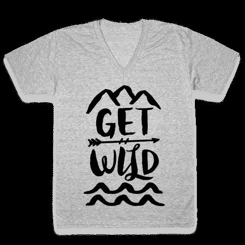 Get Wild V-Neck Tee Shirt