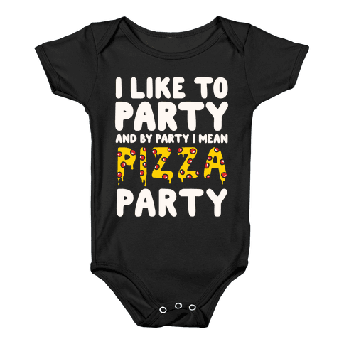 Pizza Party Baby Onesy