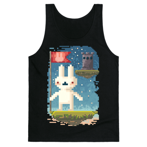 Pixel Bunny Plants Flag Tank Top
