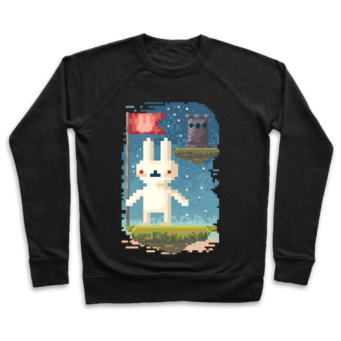 Pixel Bunny Plants Flag Pullover