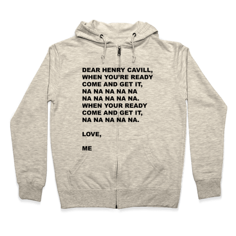 Henry Cavill Come and Get It Zip Hoodie