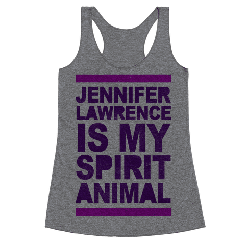 J Law Is My Spirit Animal Racerback Tank Top
