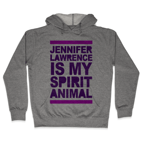 J Law Is My Spirit Animal Hooded Sweatshirt