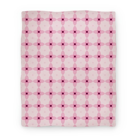 Pink Geometric Flower Pattern Blanket